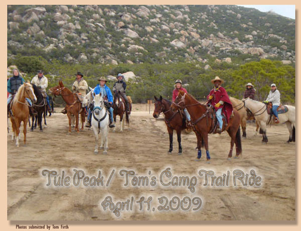 Tule Peak Ride - Redshank Riders